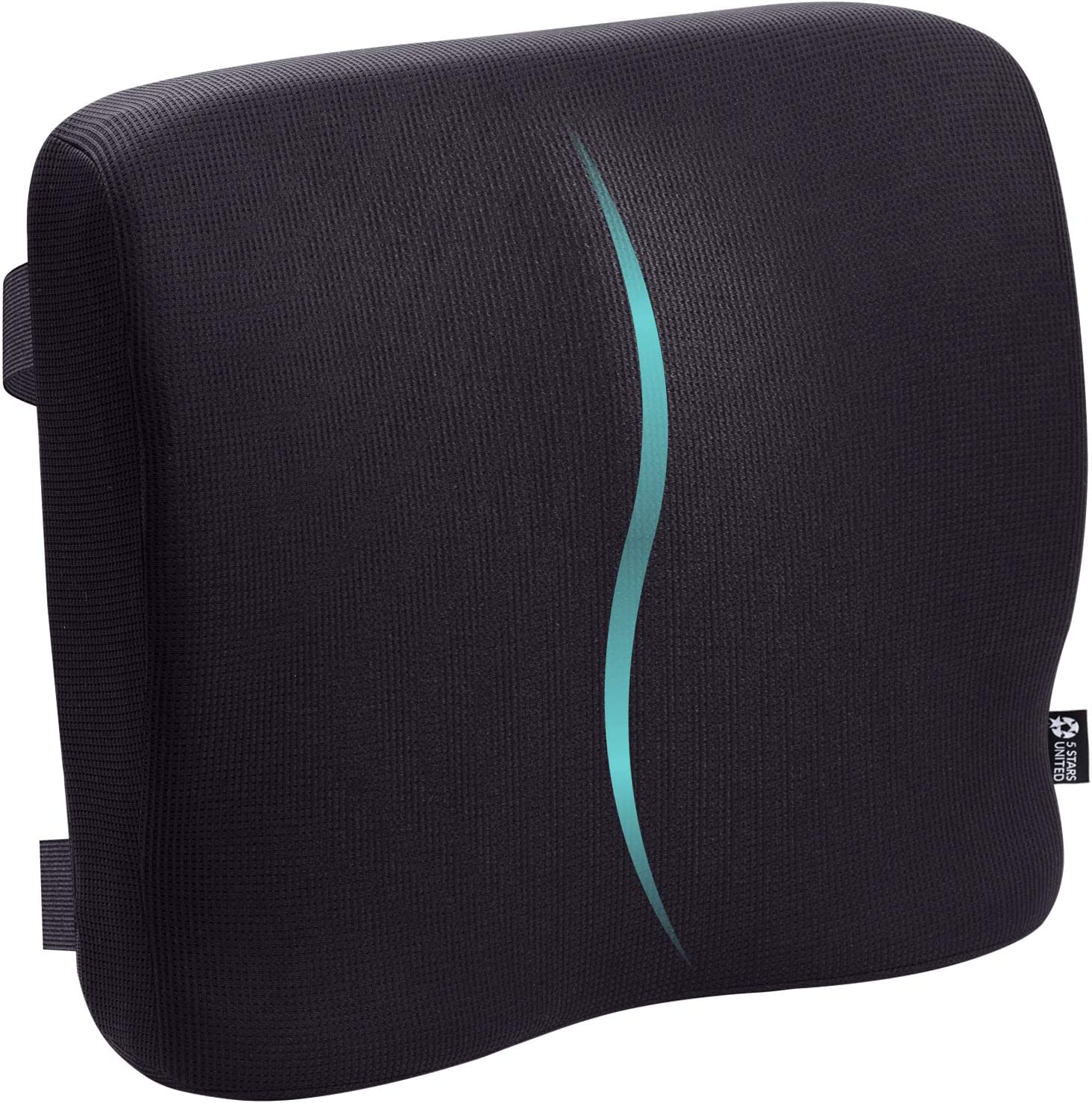 "Back Lumbar Support for Office Chair - 15.7""x3.2"" Large Pillow for Lower Back Pain - Full Posture Corrector for Car, Wheelchair, Computer and Desk Chairs - 100% Memory Foam Orthopedic Seat Cushion 81PXsqyq7BL"