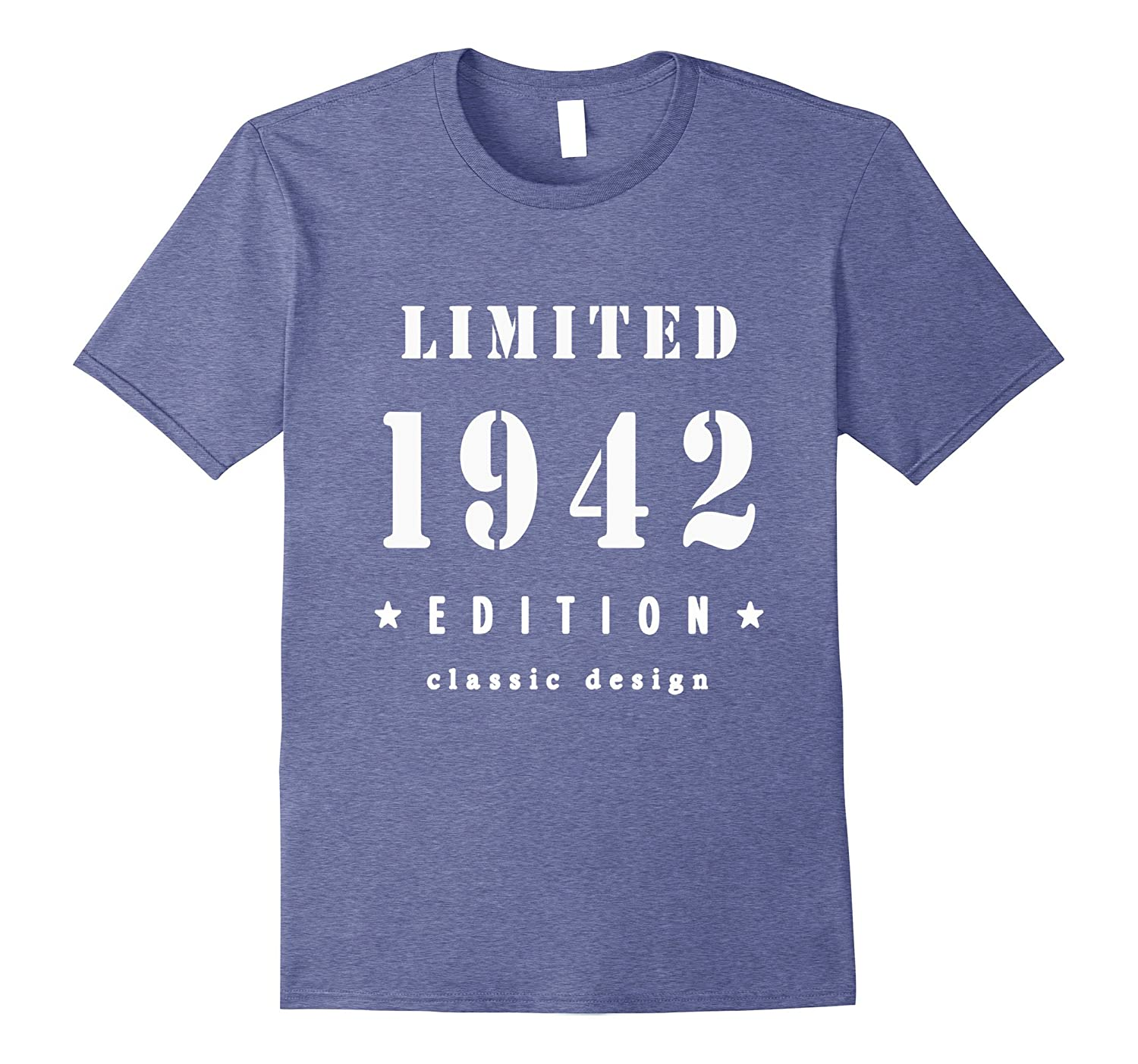 75th Birthday T Shirt Vintage Made In 1942 Gift Ideas Guys PL