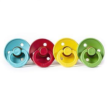 6-18 Monate 4 Bibs Schnuller Colour Starter-Set f/ür Jungen Gr/ö/ße 2