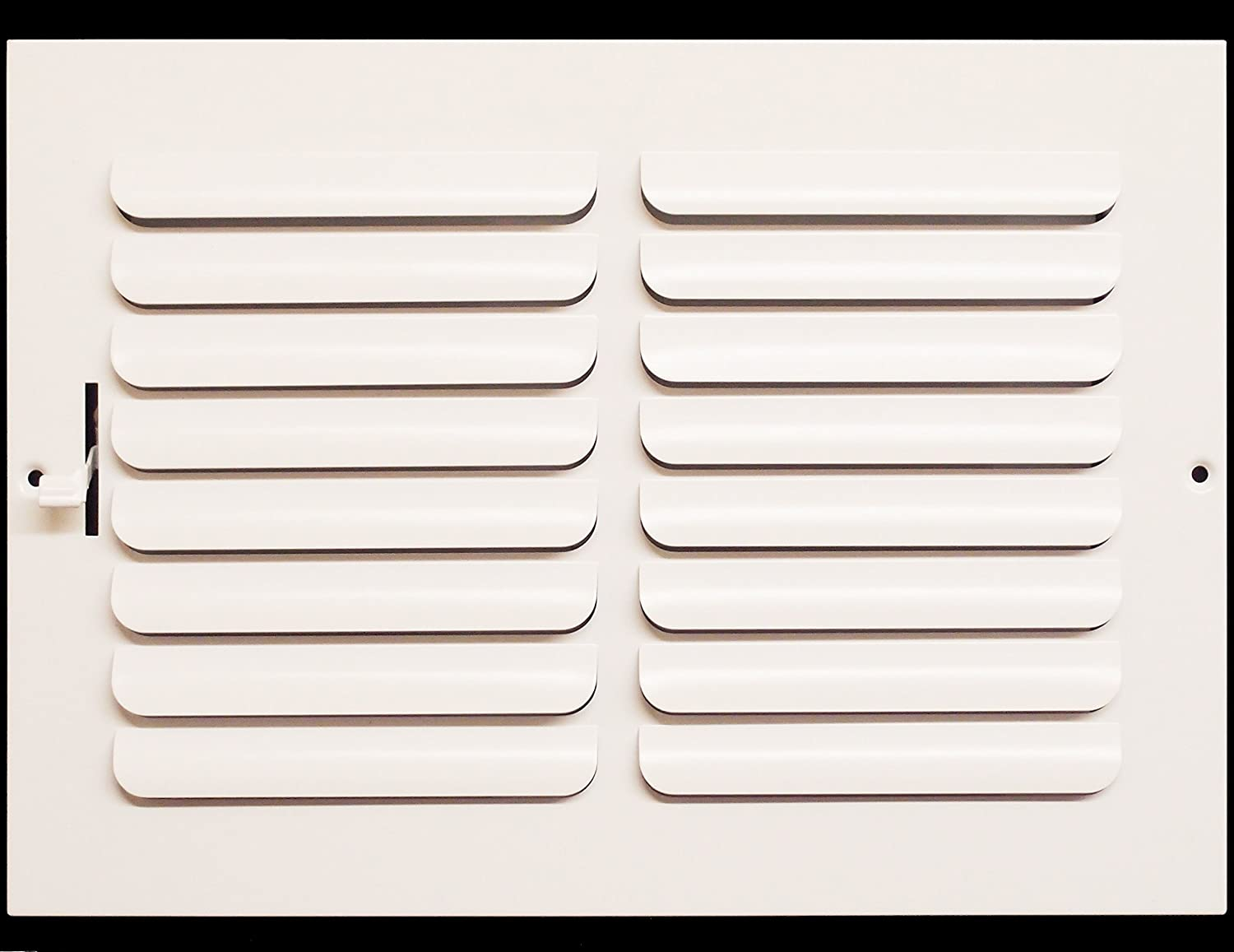 """12""""w x 8""""h 1-Way Fixed Curved Blade AIR Supply Diffuser - Vent Duct Cover - Grille Register - Sidewall or Ceiling - High Airflow - White"""