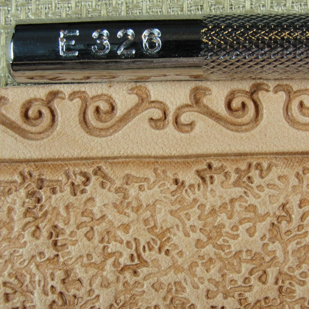 Leather Stamping Tool Craft Japan #E386 Background Matting Stamp