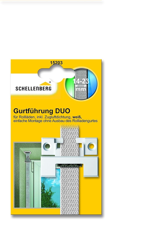 Schellenberg 15103 Gurtf/ührung DUO rund mit Zugluftdichtung f/ür Systeme Mini und Maxi Rolladengurtband 14-23 mm Breite