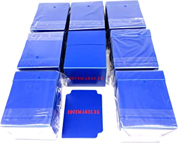 docsmagic.de 8 x Deck Box Full Blue + Card Divider - Caja Azul ...