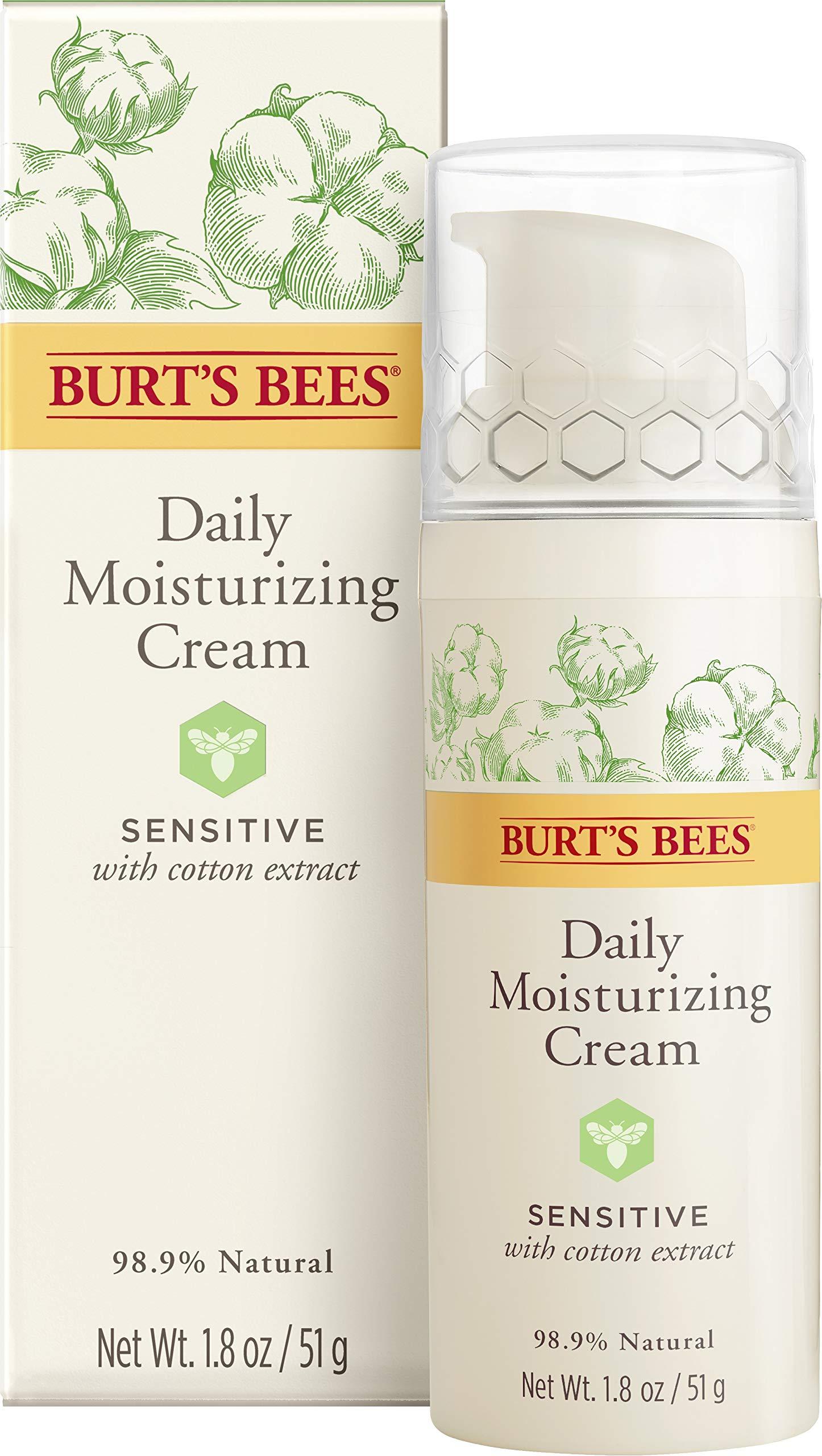 Burt's Bees Daily Face Moisturizer Cream for Sensitive Skin, 1.8 Ounces by Burt's Bees