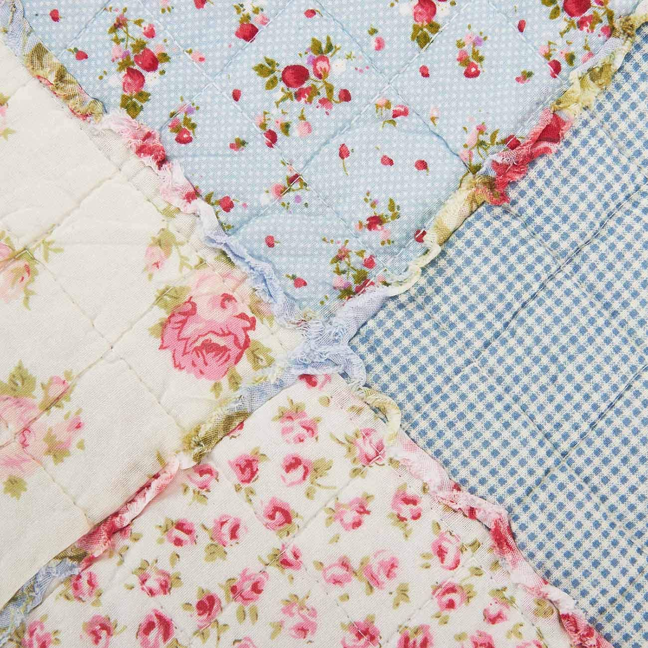 Cozyholy Original Design Coverlets Quilted Blanket 100/% Cotton Bed Cover Quilt Throw for Twin//Full Bed Flower