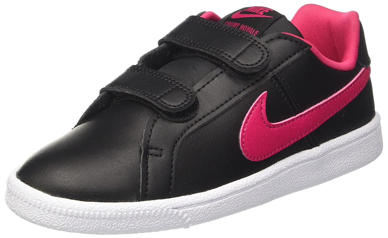 Nike Court Royale Gpv, Zapatillas para Niñas, Negro (Black/Rush Pink/White), 33.5 EU