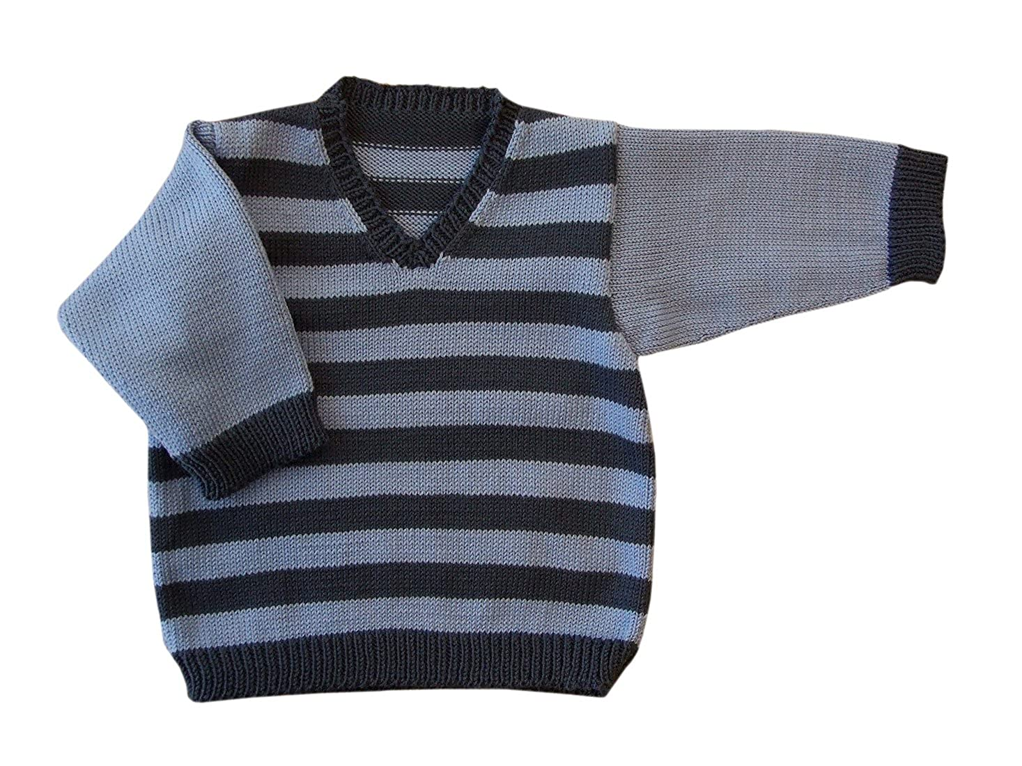 Amazon.com: 100% merino wool baby infant knitted sweater striped ...