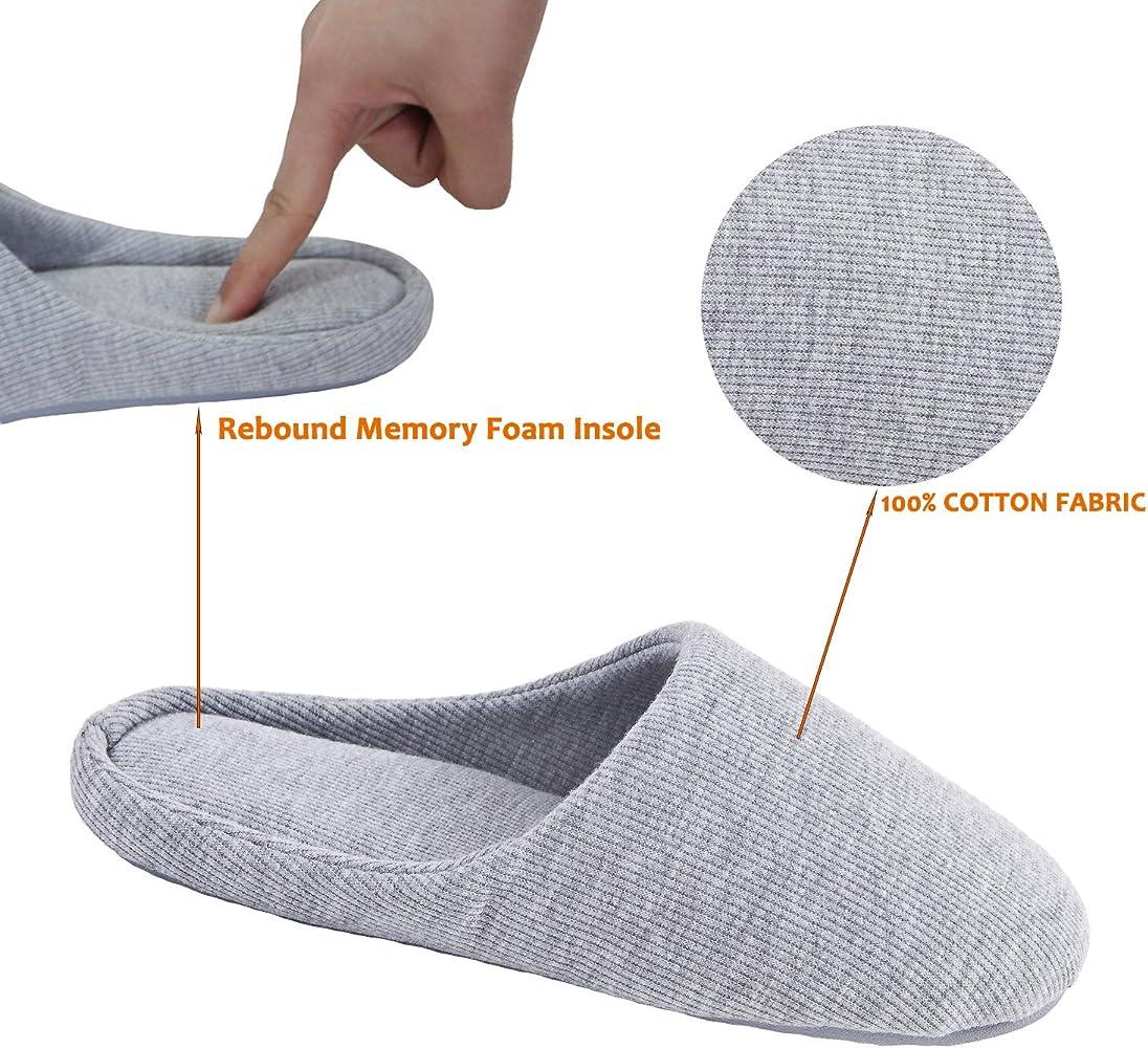 ofoot Women's Indoor Slippers, Memory