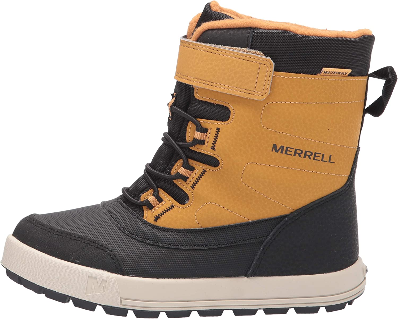 Merrell Snow Storm Waterproof Boot Wheat 4 US Unisex Big Kid