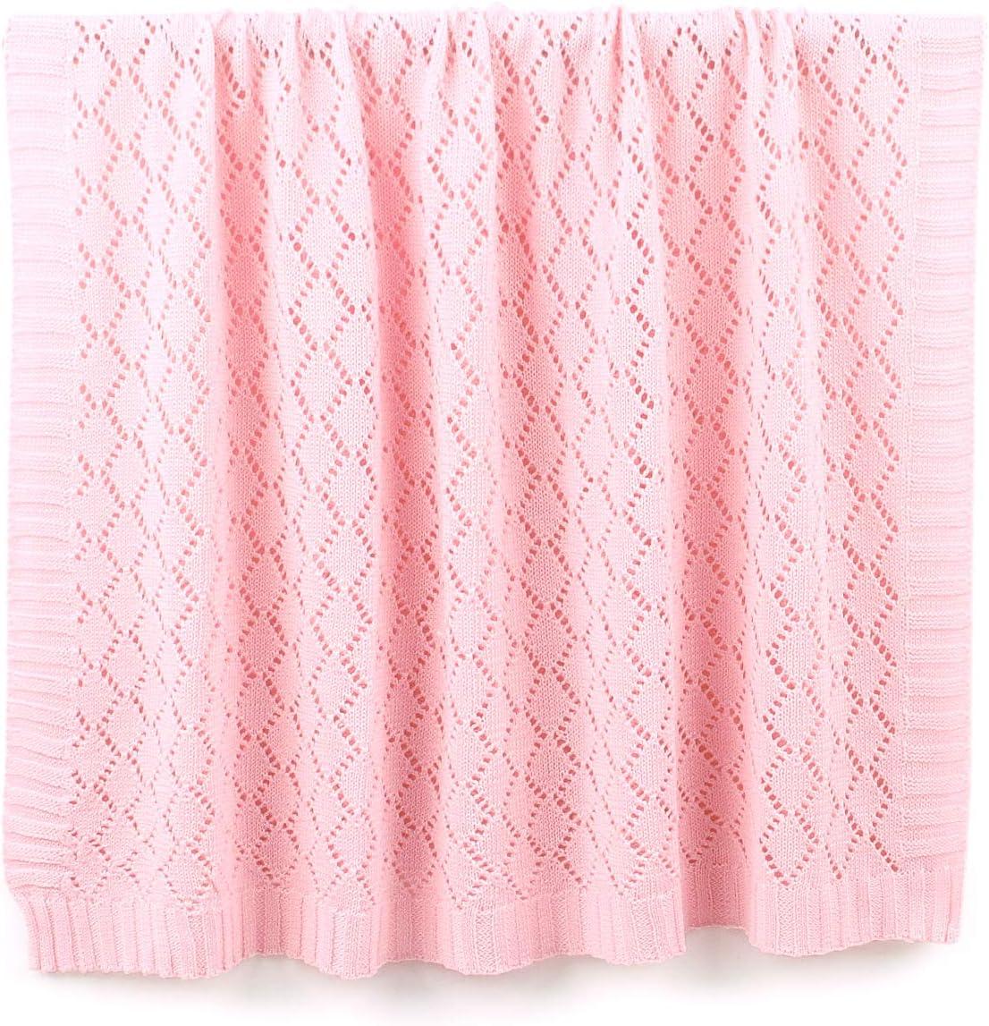 Rose, 100cm /× 80cm Couverture de b/éb/é cellulaire mimixiong pour gar/çon filles