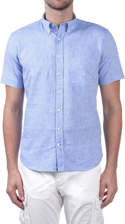 Navigare - Camisa para hombre, mezcla de lino, manga corta, tallas S/7XL, art. 93004BD: Amazon.es: Ropa y accesorios