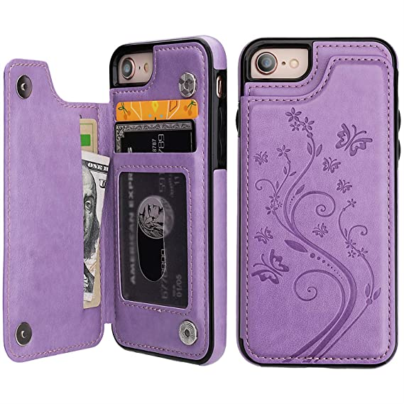 iphone 8 case purple leather