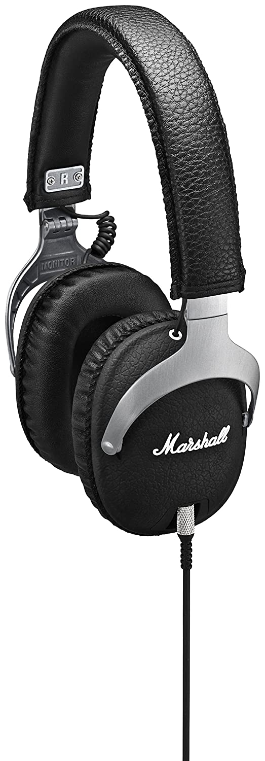 Marshall Monitor Steel - Auriculares de Diadema Cerrados (3.5 mm, 10Hz-20kHz, 42Ω), Color Negro: Amazon.es: Electrónica