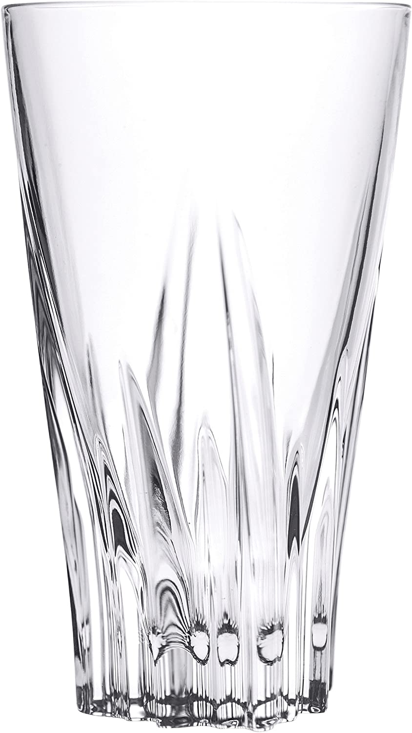Lorren Home Trends Fluent High Ball Tumblers (Set of 6), Clear