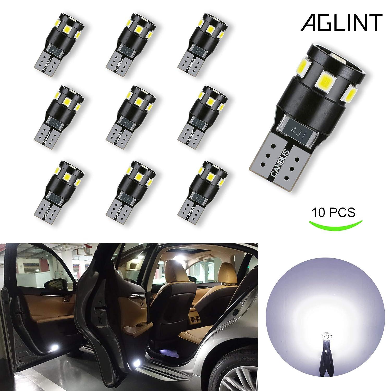 AGLINT W5W T10 LED Ampoule 194 168 2825 LED 9SMD CANBUS Sans Erreur Feux Pour Voiture Lampes D'inté rieur Voitur De Plaques D'immatriculation Lumiè res AGLINTLED T10-2835-9W CANBUS