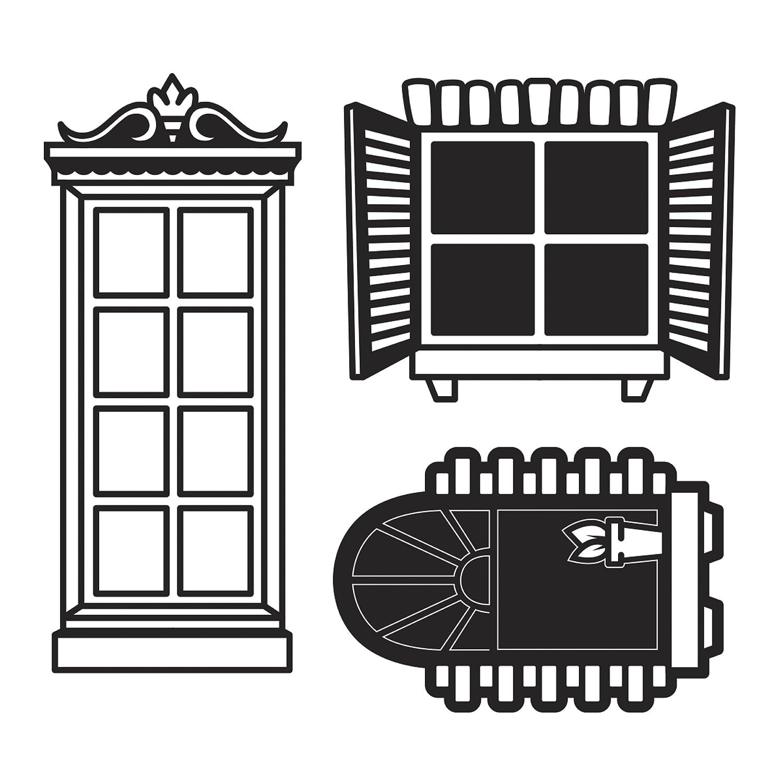 Darice 30023094 die cut emboss stencil windows amazon in electronics
