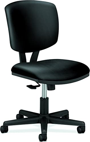 HON SB11.T HON5703SB11T Volt Leather Task Computer Chair for Office Desk, Black H5703 , Synchro-Tilt