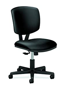HON Volt Leather Task Chair - Computer Chair Office Desk, Black (H5703)