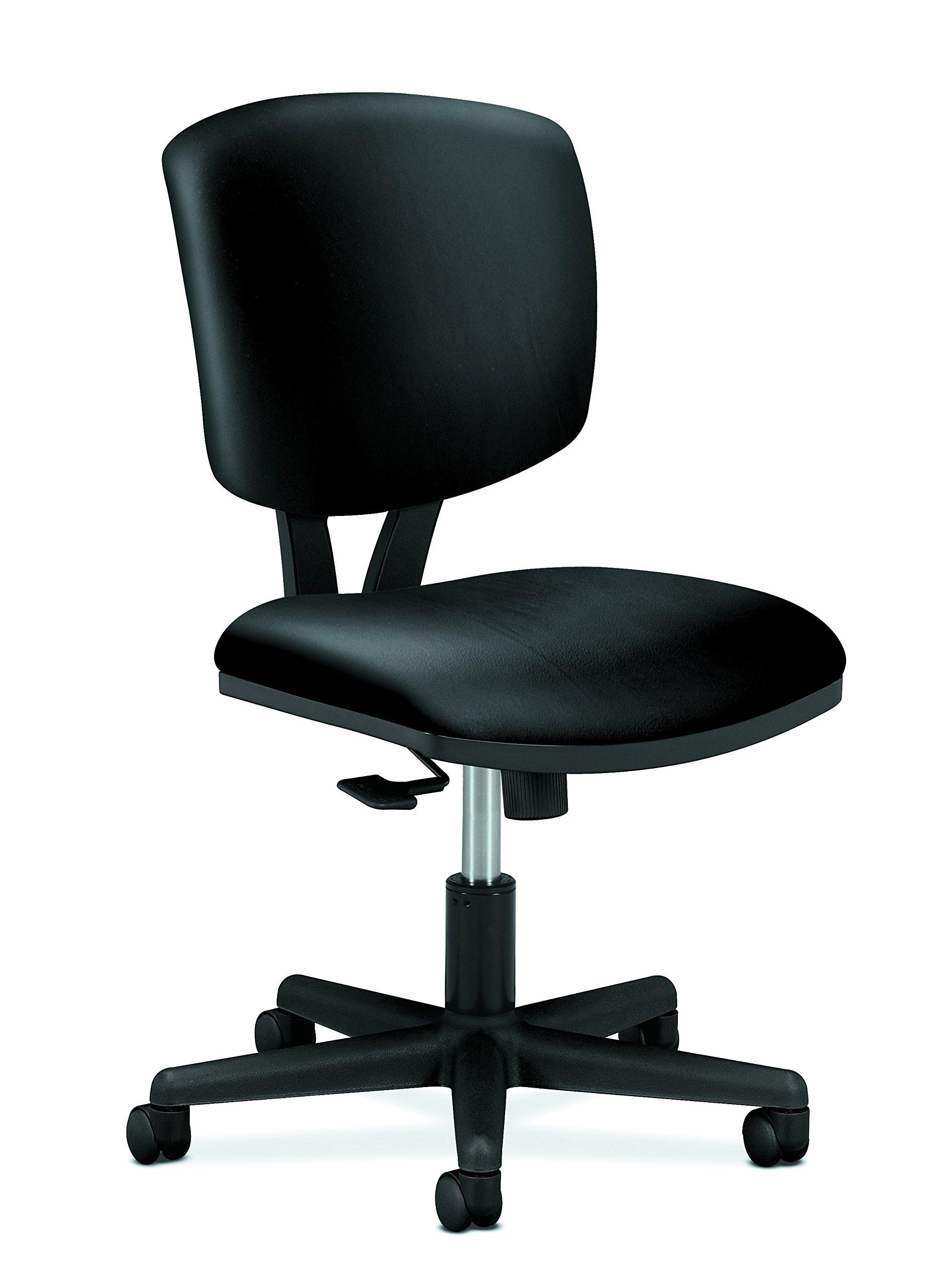 HON SB11.T HON5703SB11T Volt Leather Task Computer Chair for Office Desk, Black (H5703), Synchro-Tilt