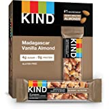 KIND Bars, Madagascar Vanilla Almond, Gluten Free, Low Sugar, 1.4oz, 12 Count