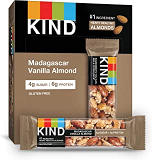 product image for KIND Bars, Madagascar Vanilla Almond, Gluten Free, Low Sugar, 1.4oz, 12 Count