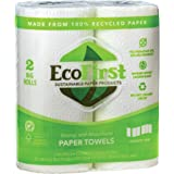 EcoFirst Recycled Paper Towels (2 Rolls) - Bulk Paper Towels - Paper Towels Half Sheet - Kitchen Paper Towels - Eco Friendly