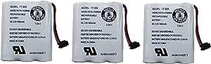 Uniden BT-905 Rechargeable Cordless Handset Phone Battery 3.6V 600mAh NiMH (3-Pack)
