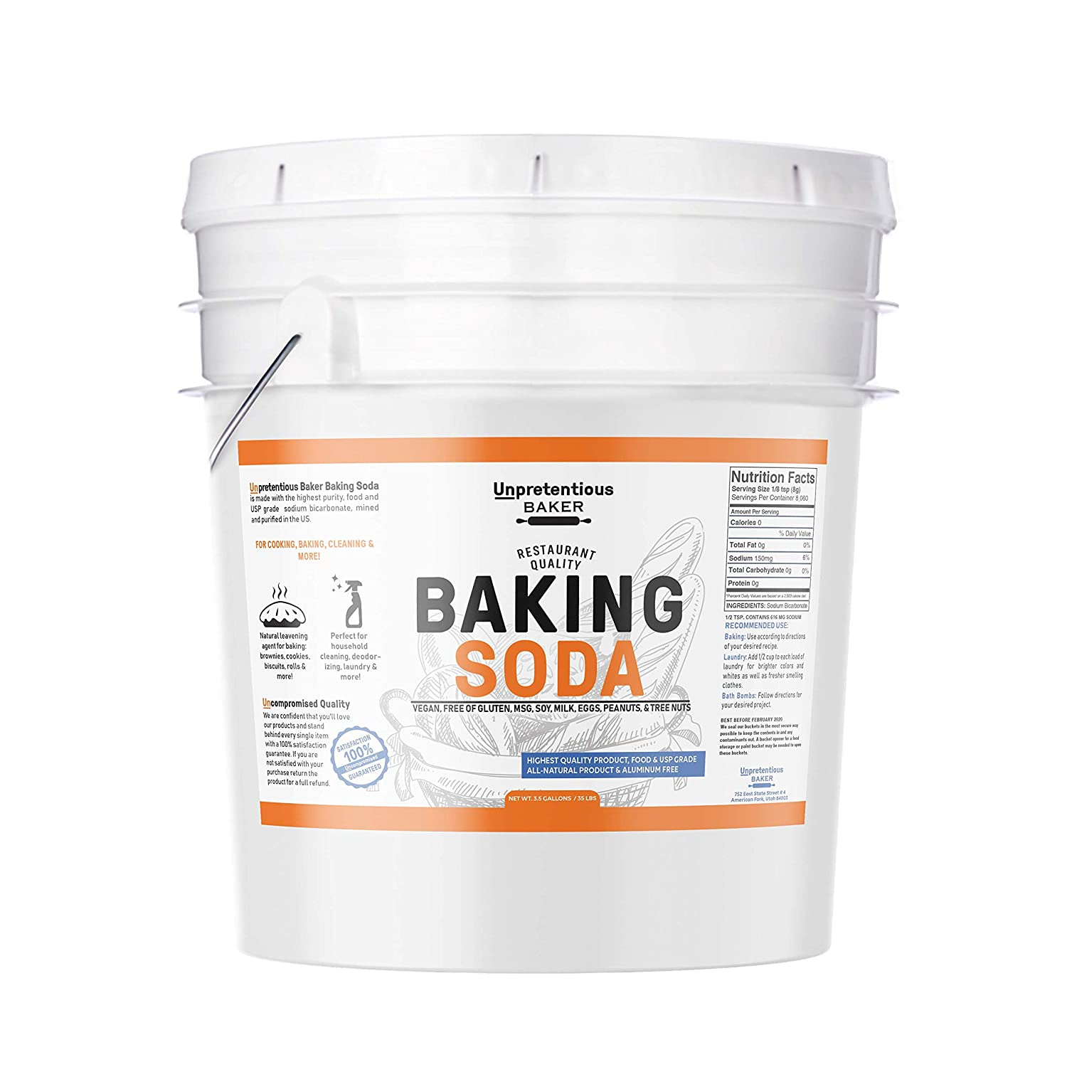 Who Won Best Baker In America 2020 Amazon.: Baking Soda (Sodium Bicarbonate) (5 gallon) by