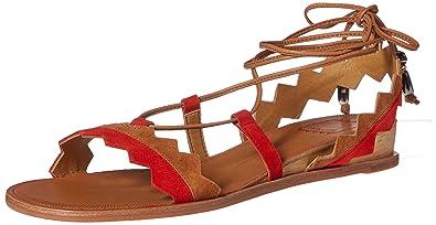 c5cf982a46bf Dolce Vita Women s Pedra Flat Sandal Red Multi Suede 6 ...