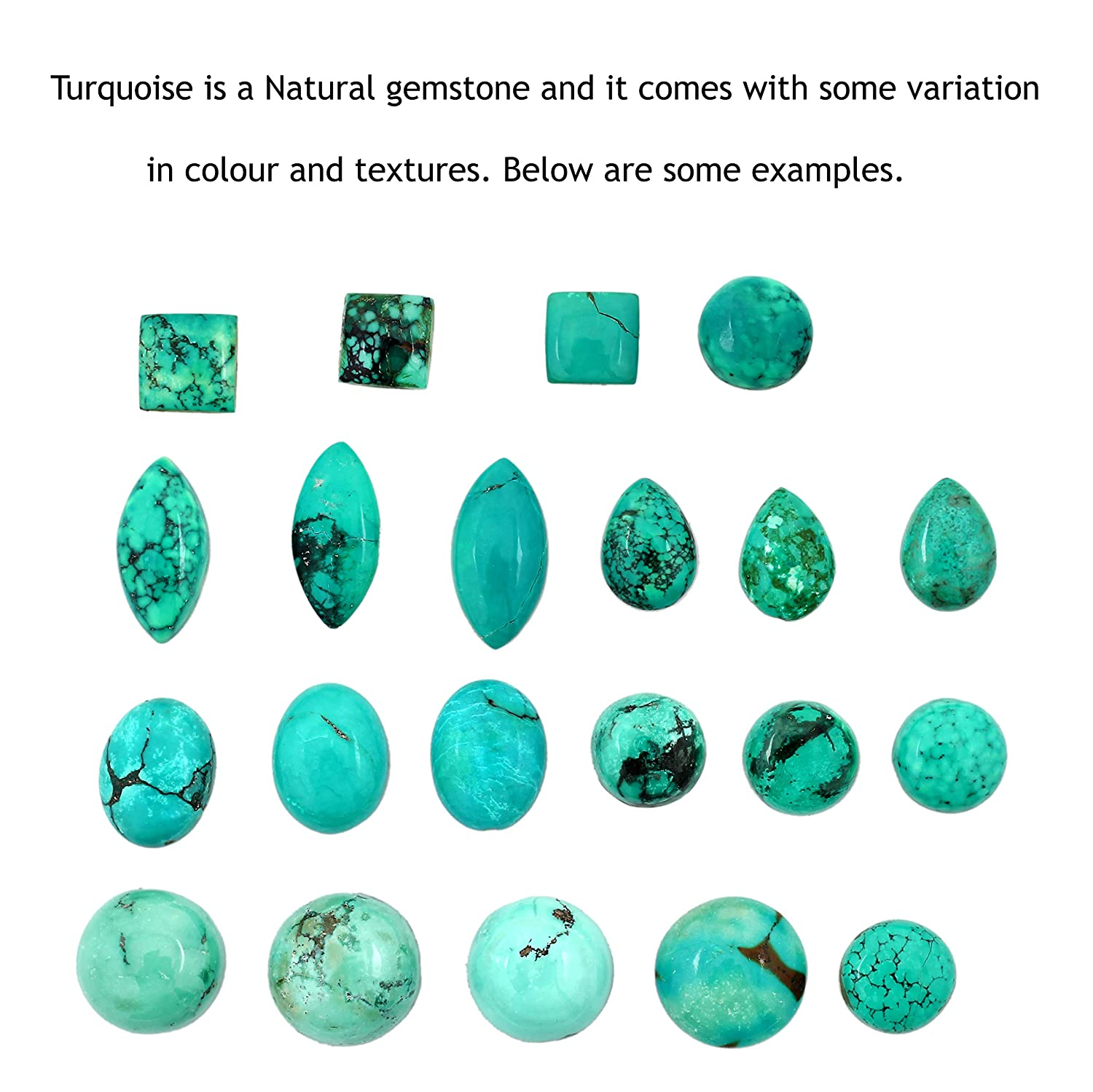 Genuine Turquoise Round /& .925 Silver Overlay Cocktail Solitaire Rings 15.15ct