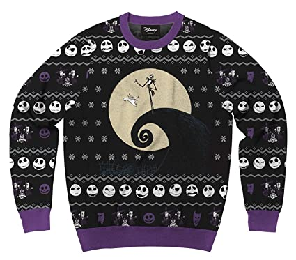 Mens Disney Nightmare Before Christmas Jace Faces Ugly Sweater