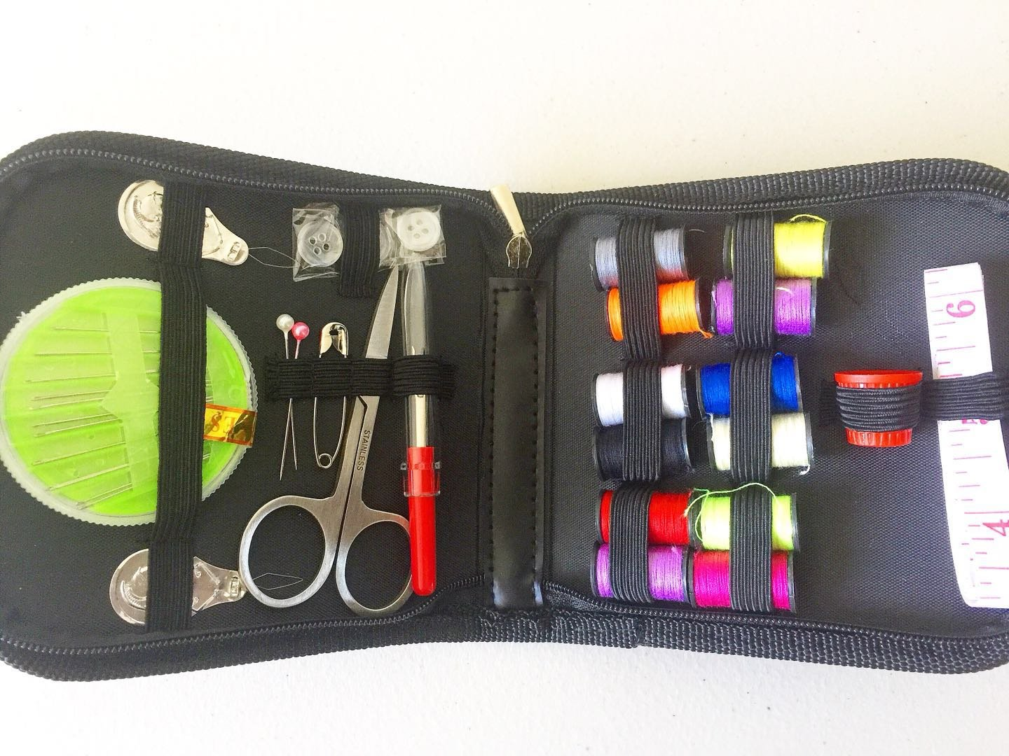 Virtual Tech Best Sewing Kit for Travel, Emergency, Sewing Supplies with Scissors, Thimble, Thread, Needles, Tape Measure, Carrying Case and Accessories