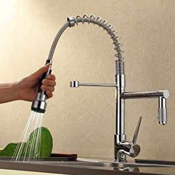 Sprinkle@Contemporary High-Pressure Chrome Kitchen Faucet ...
