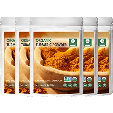 mini Premium Quality Organic Turmeric Root Powder with Curcumin 5 lbs