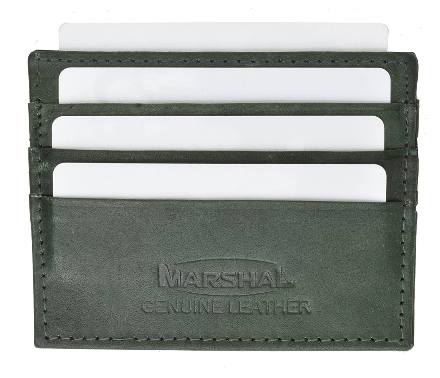 Genuine Leather Simple Credit card Holder Marshal