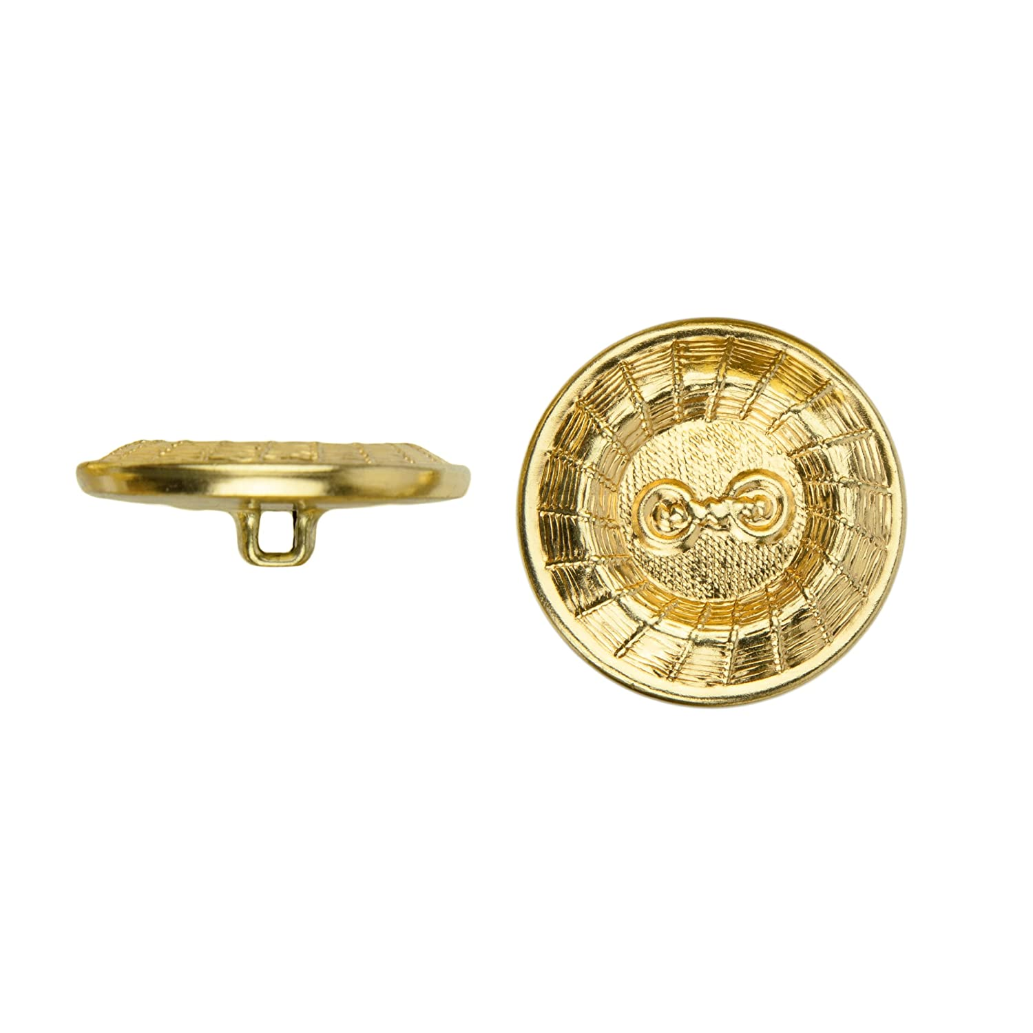 Gold Size 36 Ligne C/&C Metal Products 5020 Roulette Wheel Metal Button 36-Pack