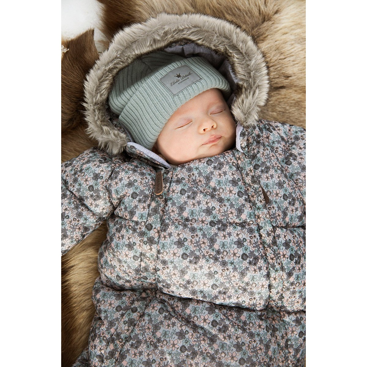 6 to 12 Months Elodie Details Car Seat Overall Petite Botanic