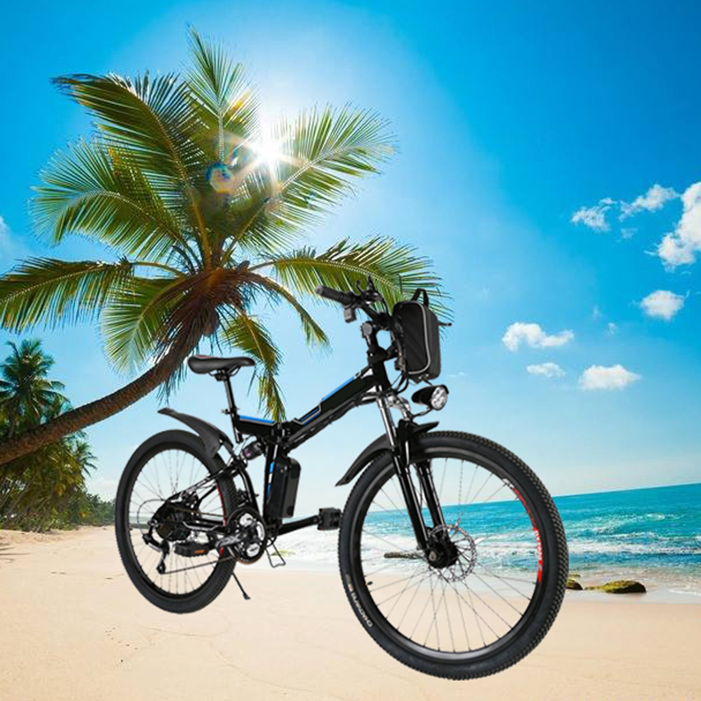 Amazon.com: Etuoj - Bicicleta de montaña eléctrica plegable ...