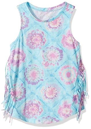 ff43ebe77cf0 Amazon.com: Jessica Simpson Girls' Big Rini Tie Dye Fringe Tank: Clothing