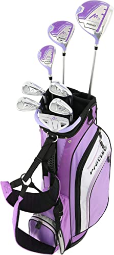 Precise M3 Ladies Womens Complete Golf Clubs Set Includes Driver, Fairway, Hybrid, 7-PW Irons, Putter, Stand Bag, 3 H C s Purple – Regular, Petite or Tall Size