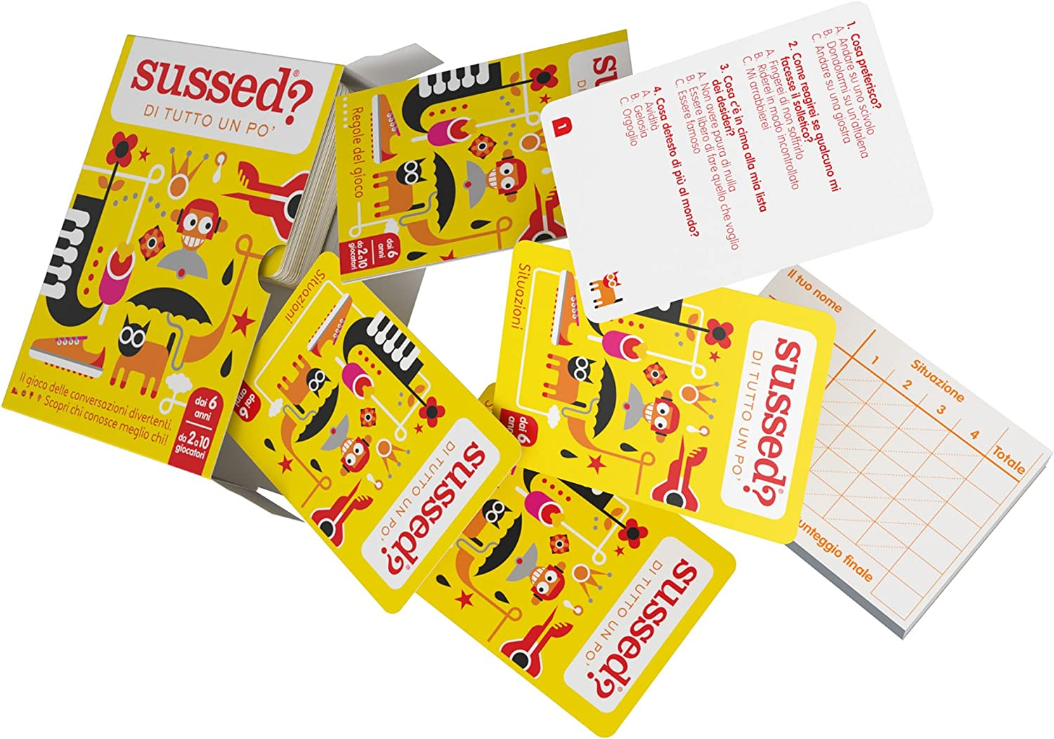 The Hilarious Who Knows You Best Card Game ITALIAN EDITION SUSSED DI TUTTO UN PO/'