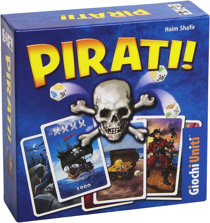 Juegos de Estados Unidos - Piratas Juego de mesa, 40 Tarjetas Piratería, 8 Tuercas de raid , Modelos/colores Surtidos, 1 Unidad