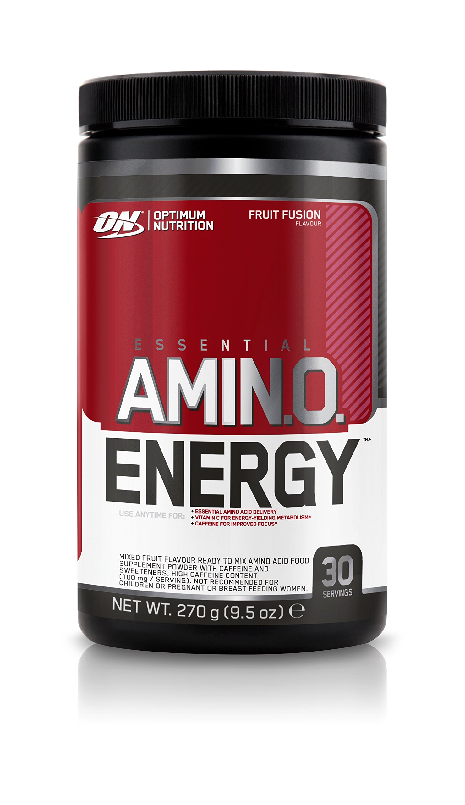 Optimum Nutrition Amino Energy with Green Tea and Green Coffee Extract, Preworkout and Amino Acids, Flavor: Fruit Fusion, 30 Servings