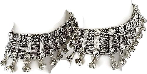 Anklet Pair Chain Fringe Tassel Barefoot Boho Ankle Feet Jewelry Bohemian Gypsy