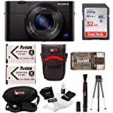Sony DSC-RX100M III w/Rechargable Lithium-Ion Battery Pack & 32GB Accessory Bundle