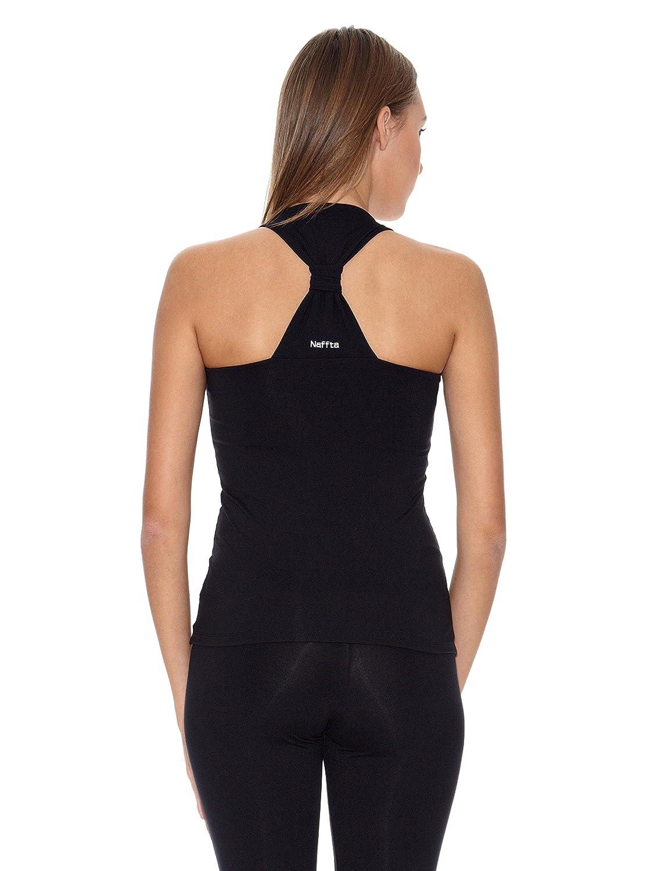 Naffta Camiseta Tenis/Padel Negro/Blanco L: Amazon.es: Ropa ...