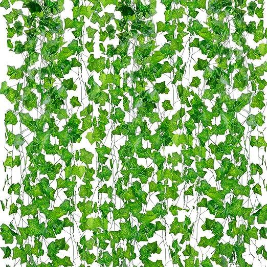 Plantas Hiedra Artificial Decoración Interior Y Exterior 10 Guirnalda Hiedra Artificial De Hogar Boda Jardín Valla Escalera Ventana para Decoración: Amazon.es: Hogar
