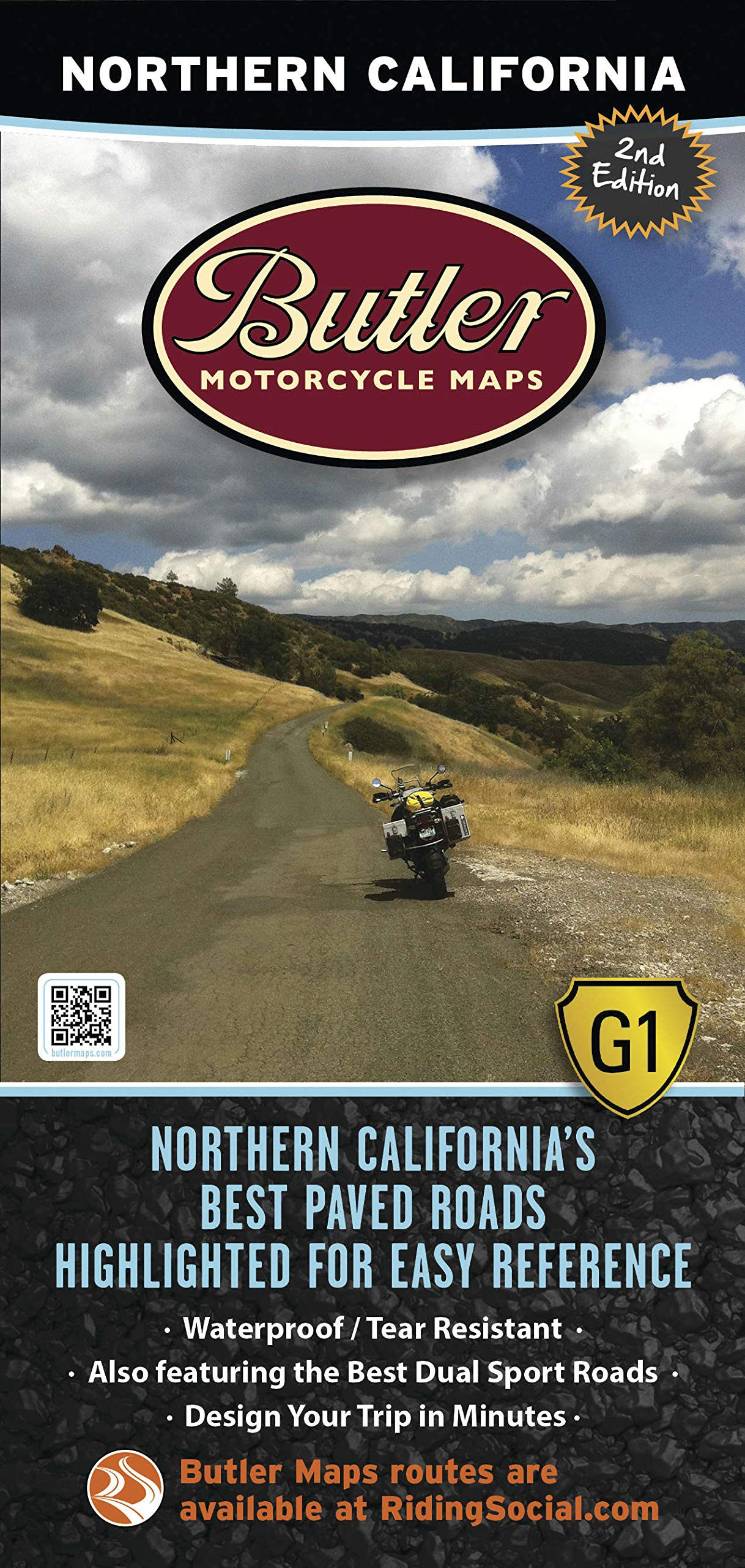 Amazon.com: Butler Maps Northern California Map: Butler Motorcycle on