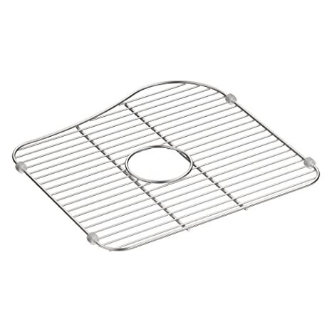 Silver 13-1//4 x 15-7//8 13-1//4 x 15-7//8 for Right-Hand Bowl Stainless Steel Double Equal Staccato Large Sink Rack Kohler 5117-ST Bottom Basin