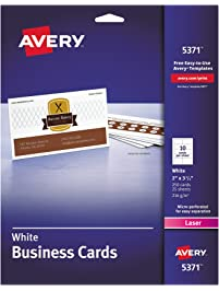 Business cards amazon office school supplies paper avery 5371 printable microperf business cards reheart Images